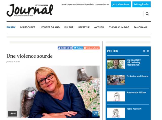 Lëtzebuerger Journal : Une violence sourde